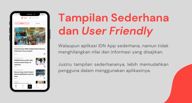 Tampilan Sederhana dan User Friendly