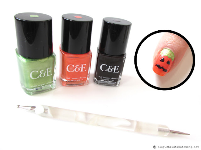 Pumpkin Halloween Inspired Nail Art using Crabtree and Evelyn