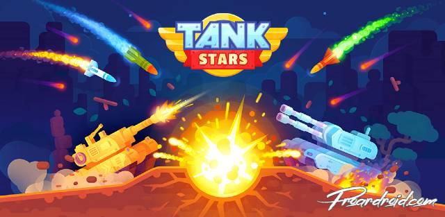 تحميل لعبة الاثارة Tank Stars النسخة المهكرة