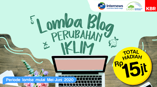 Lomba blog penyedia konten radio indonesia kbr.id dengan tema perubahan iklim