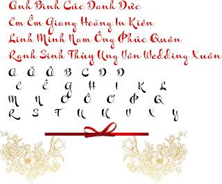 Fonts chữ wedding thiệp cưới