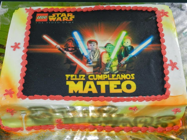 Torta starwars lego fiesta cumpleaños campestre Bogota