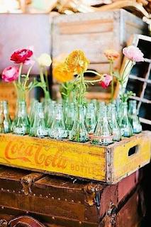 utiliser des casiers et portes bouteilles anciens dans sa décoration de mariage  blog mariage www.unjourmonprinceviendra26.com