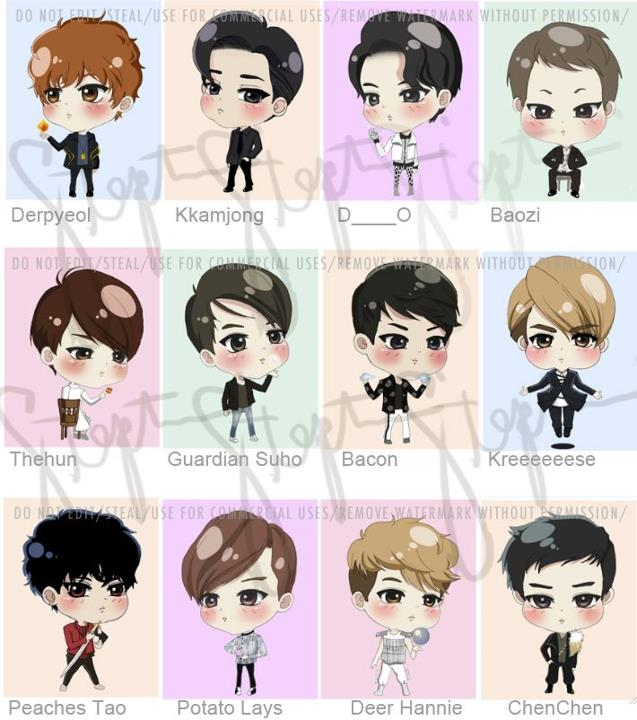 Tall Boy Short Girl Couple Wallpaper Share Anything Share Pic Exo Chibi