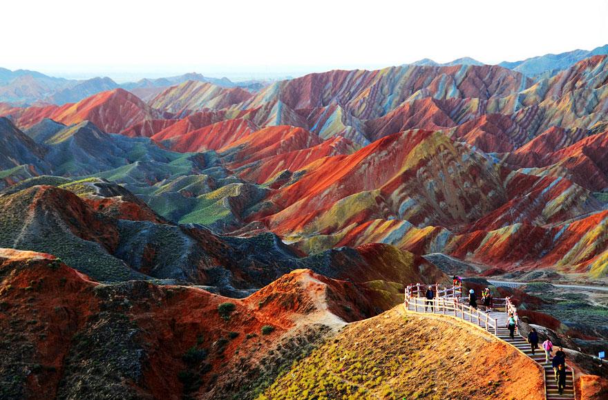 China,Zhangye Danxia Landform