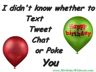 Funny Way of Birthday Wishes