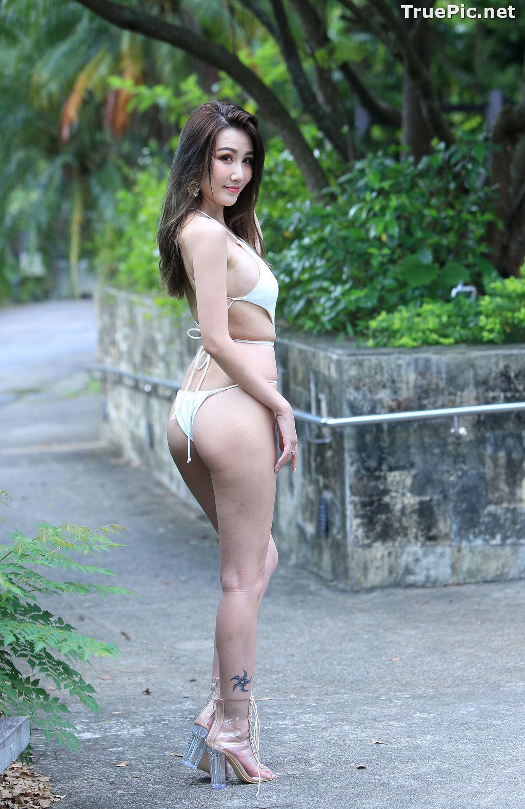 Image Taiwanese Beautiful Model - Suki - White Sexy Bikini Girl - TruePic.net - Picture-4