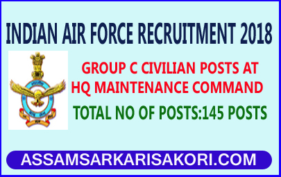 Indian Air Force Recruitment 2018 Group C Civilian Posts At Hq
