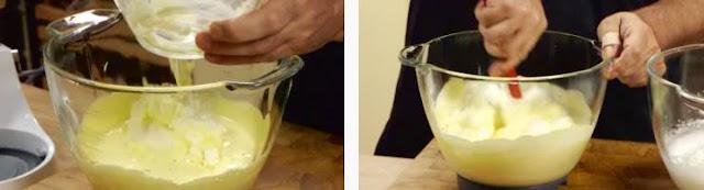 Preparazione del tiramisù giallo zafferano 03