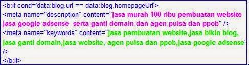 cara menambahkan meta tag keywords di Html