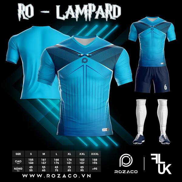 Áo Không Logo Rozaco RO-LAMPARD Màu Xanh Ya