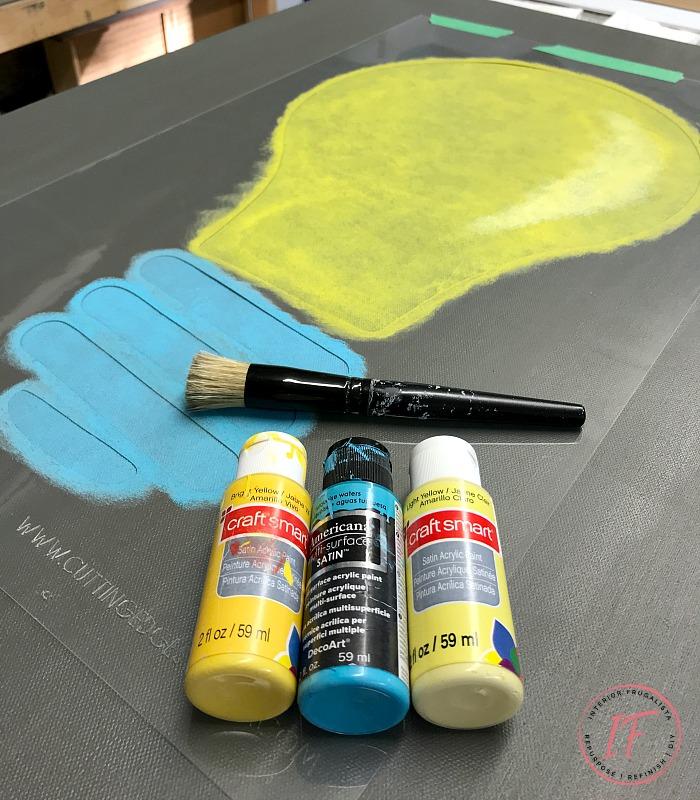 DIY Stenciled Canvas Art