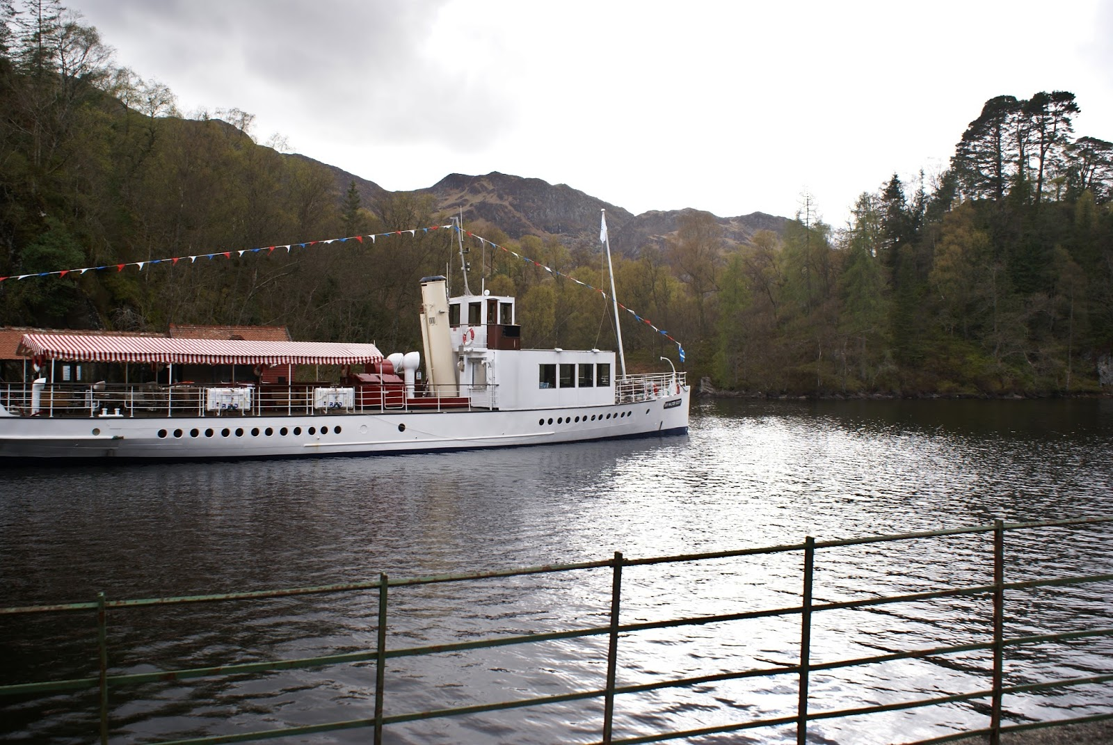 boat loch katrine trossachs scotland uk