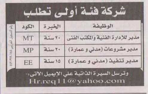 اعلانات الوظائف بالاهرام يوم الجمعة الموافق 23/7/2021