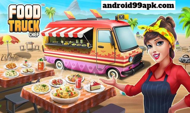 لعبة الطبخ Food Truck Chef v1.7.8 مهكرة (بحجم 83 MB) للأندرويد