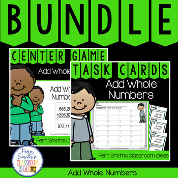 4th Grade Go Math 1.6 Add Whole Numbers Bundle
