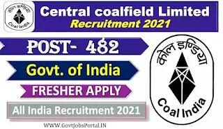 Central Coalfields Recruitment 2021