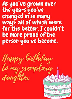 facebook birthday wishes for daughter