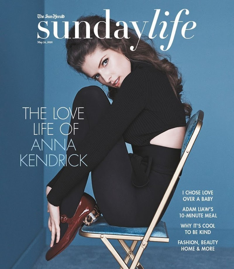 Anna Kendrick Featured in Sunday Life - May 2020