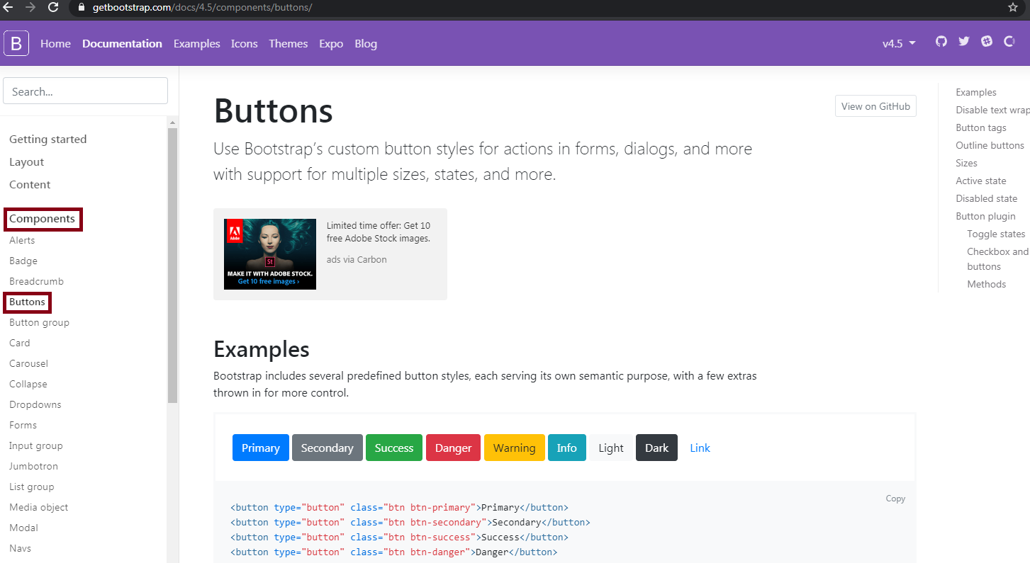 [Best Method] How To Add A Button In Blogger Post Using HTML Code [2020]   Bootstrap Buttons