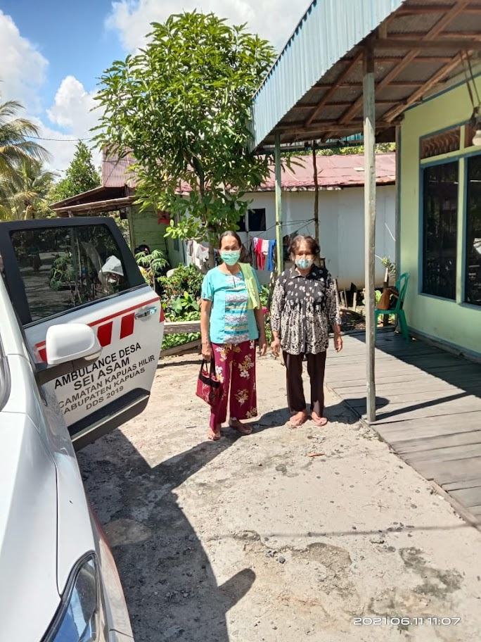 Upaya Pemdes Sei Asem Jemput Lansia Untuk Vaksinasi Covid 19