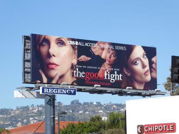 Good Fight series premiere billboard
