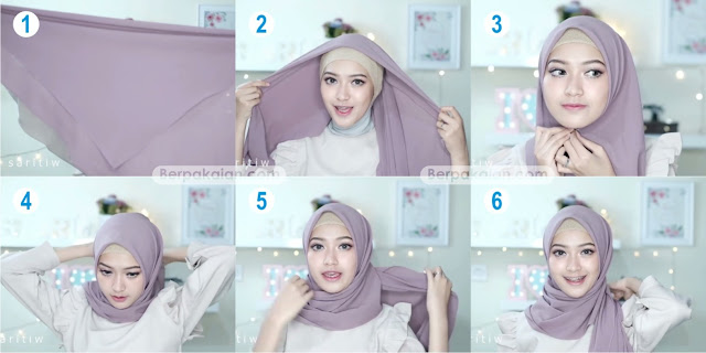 Style Kelima Tutorial Hijab Pasmina Simple