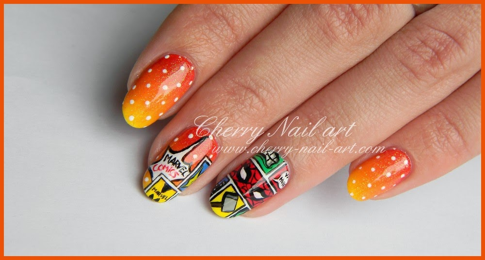 nail art bd super heros marvel