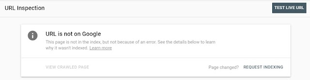 URL is not on Google, Indexing errors