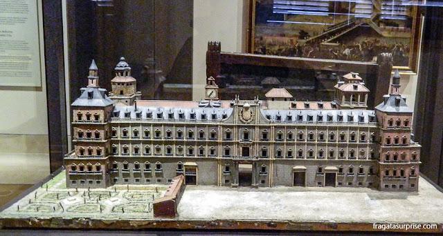 Maquete do Alcázar Real, Museu de História de Madri, no bairro de Chueca