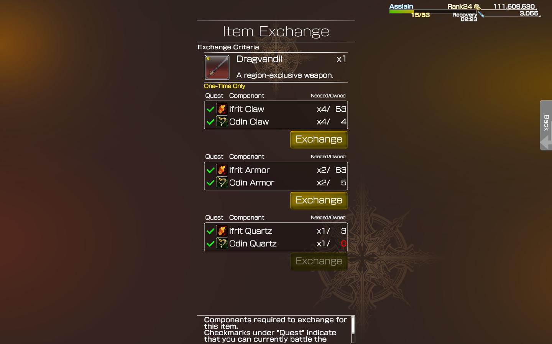 dragvandil sword on multiplayer mobius final fantasy