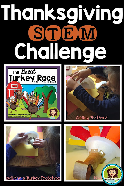 Thanksgiving STEM Challenge: The Great Turkey Race - Students make turkey stunt doubles, using the STEM Design Process, that will move fast to prevent the turkey from becoming Thanksgiving Dinner!  Versions available for Middle School Grades 5-8 and Upper Elementary 3-5