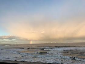 sea at whitley bay beach