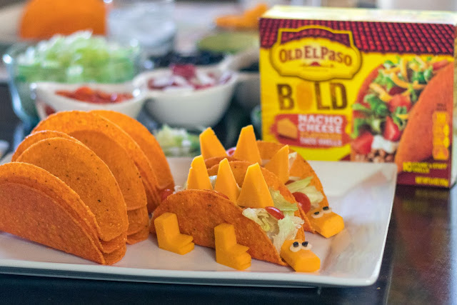 Easy and fun slow cooker dinosaur tacos for National Taco Day or any family dinner night!