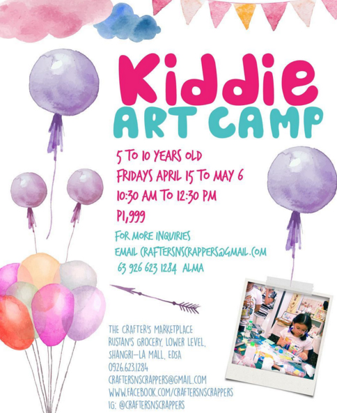 The Crafters Marketplace: Kiddie Art Camp