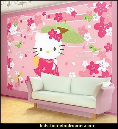 Hello Kitty Geisha Wallpaper Mural