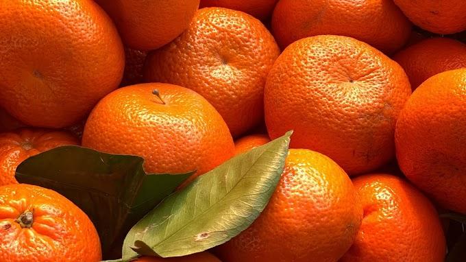Papel de Parede Fruta Saudável Tangerina