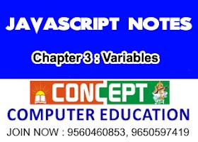 Chapter 3 : JavaScript Variables