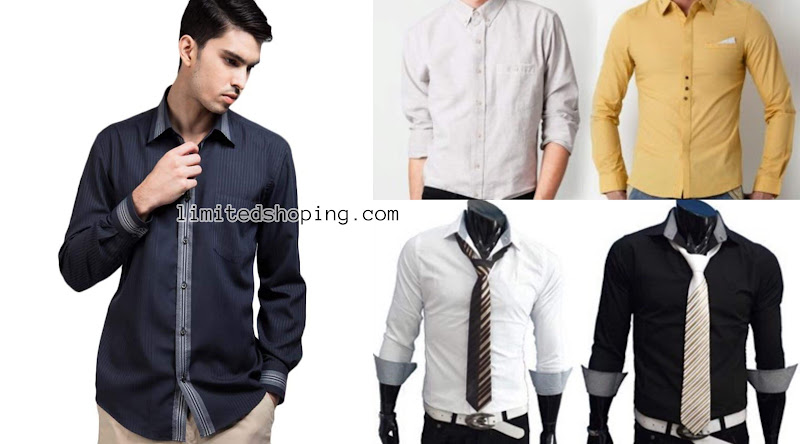 limited shoping trend fashion kemeja pria formal terkini