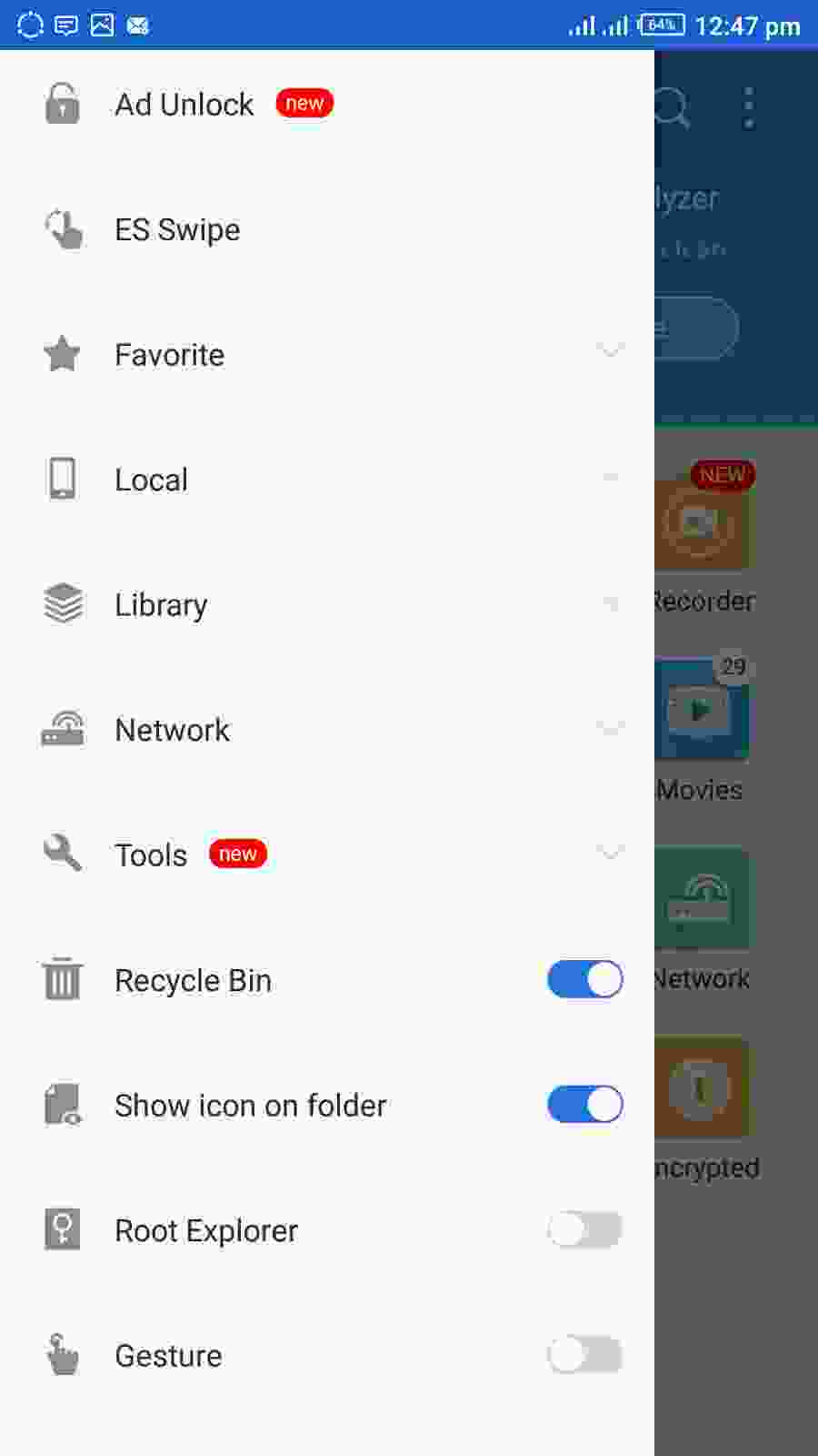 Hiding Files And Apps Using ES File Explorer Recycle Bin - Step 2