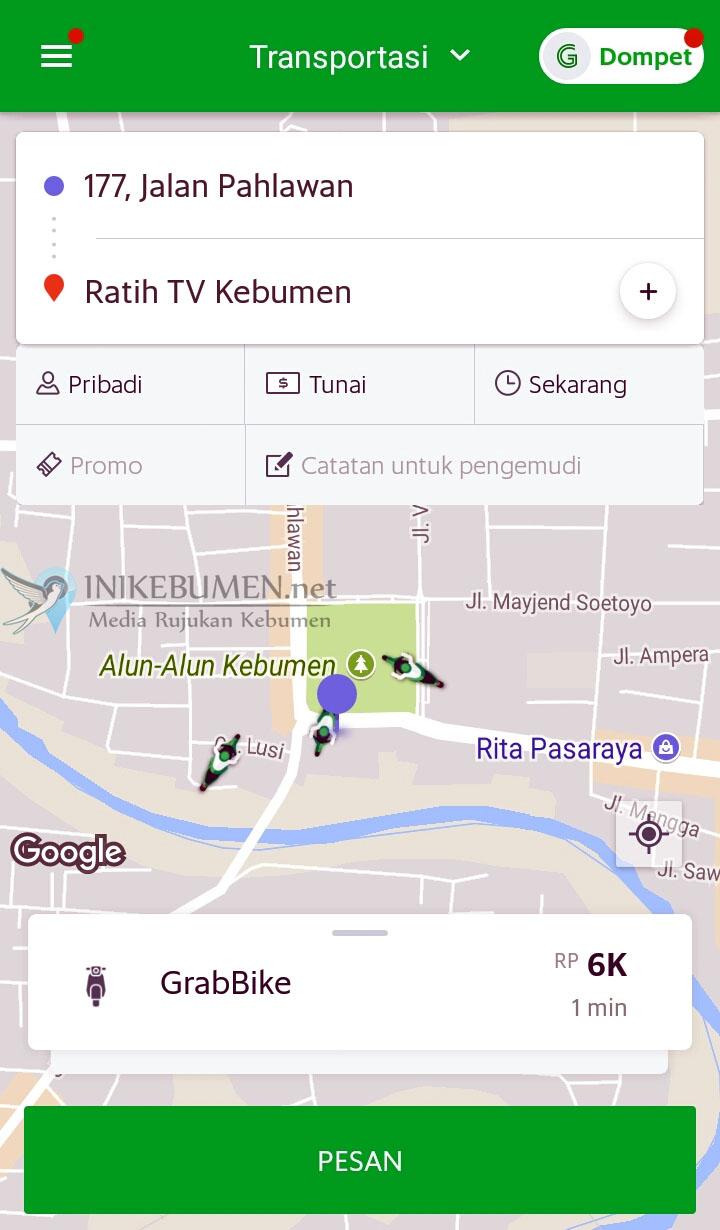 Ojek Online Grab Bike Mulai Beroperasi di Kebumen