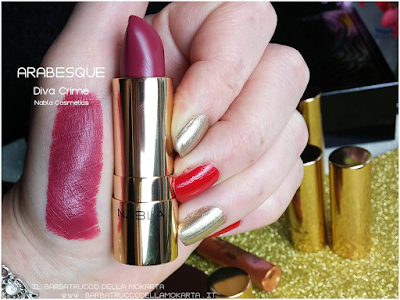 ARABESQUE swatches diva crime goldust collection Nabla cosmetics