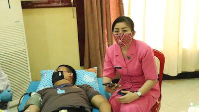Polres Musi Rawas Gelar Rapid Tes Dan Donor Darah