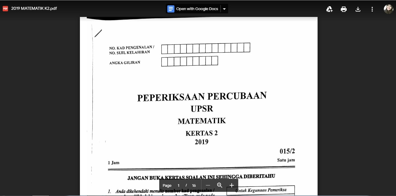 tips matematik upsr