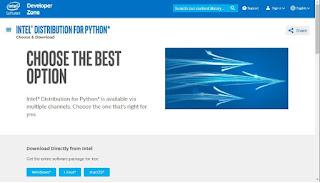 Intel Distribution for Python