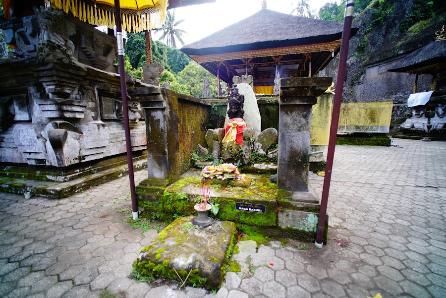 Bali ancient temple carved in stone Gunung Kawi