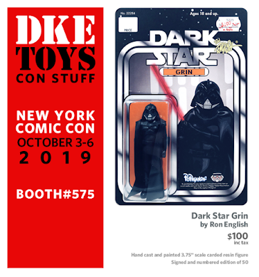 New York Comic Con 2019 Exclusive Dark Star Grin Resin Figure by Ron English x DKE Toys