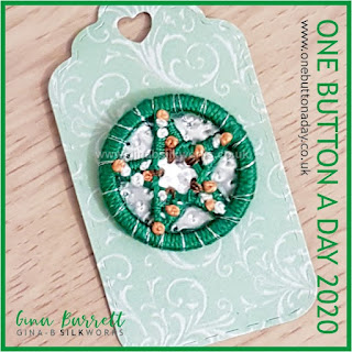 Day 355 : Christmas Trees - One Button a Day 2020 by Gina Barrett