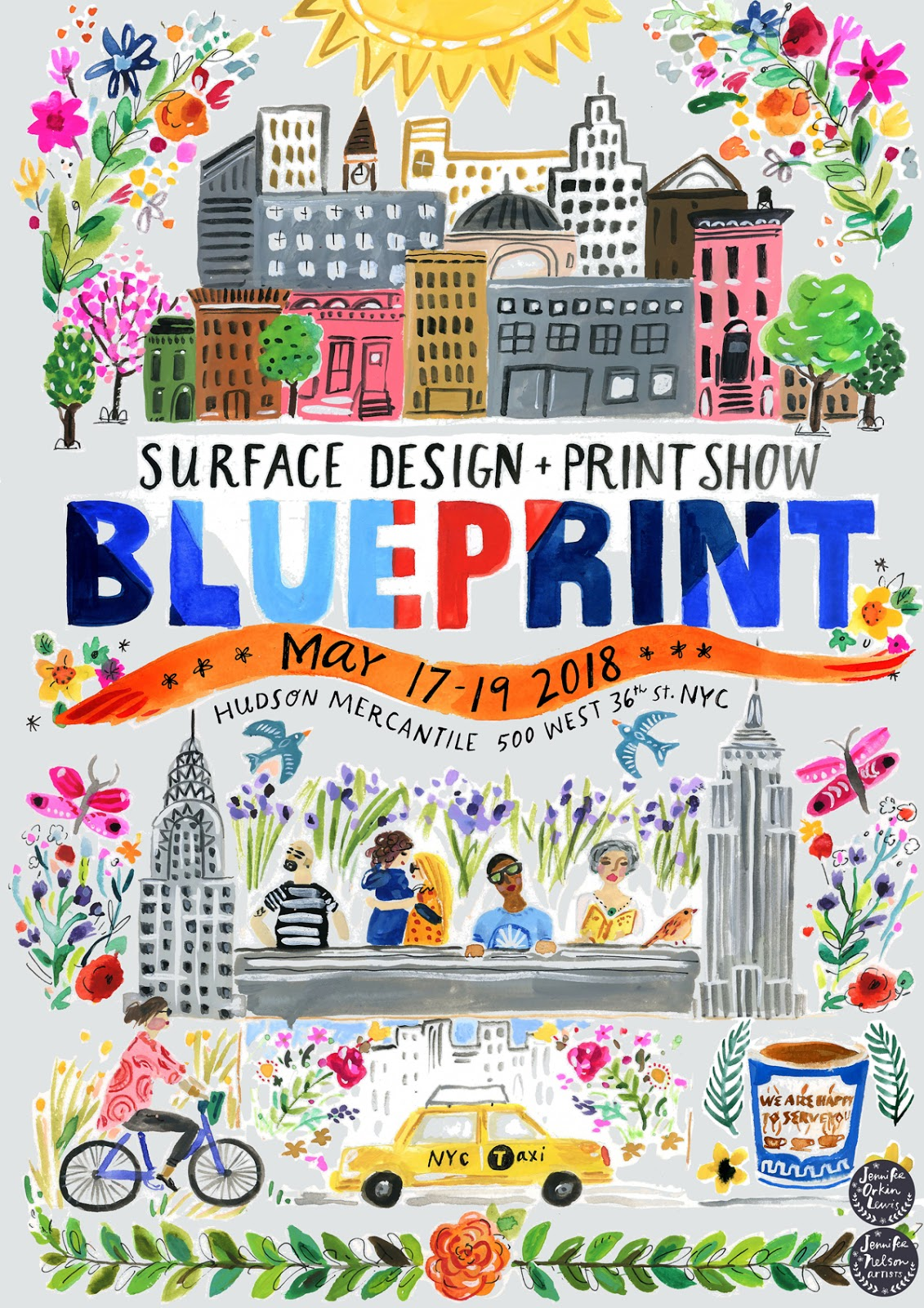 Blueprint show fantastic posters for blue print may 2018 by jennifer orkin lewis and harriet mellor malvernweather