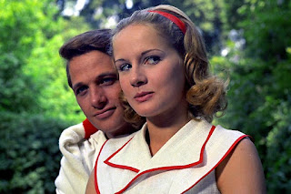 Capolicchio with his co-star Dominique Sanda in Vittorio de Sica's Oscar winner The Garden of the Finzi-Contadinis